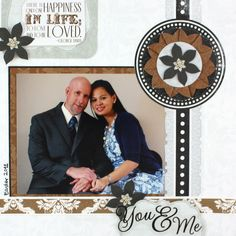 You & Me Divine 8x8 Kit #Scrapbook Layout Page Idea from Creative Memories    www.creativememor...