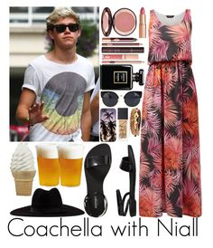 """Coachella with Niall"" by sassy-queen01 ❤ liked on Polyvore featuring Old Navy, Charlotte Tilbury, Chanel, NARS Cosmetics, Domo Beads, Filù Hats and Kinto"