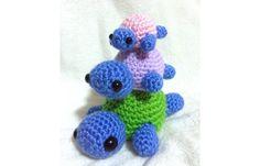 Cute, handmade crochet tiny turtle family. Crochet. Crochet stuffed animals. crochet toy. Amigurumi. Stuffed animal.