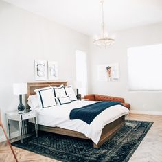 Organic bedding by Boll and Branch executes both luxury and social consciousness perfectly while staying at a reasonable cost. Modern Master Bedroom, Modern Bedroom Design, Master Bedroom Design, Master Room, Bedroom Designs, Tile Bedroom, Bedroom Flooring, Bedroom Decor, Bedroom Ideas