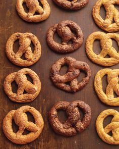 Sweet Soft Pretzels by marthastewart: Made with pizza dough (homemade or not), these are excellent with chopped nuts, chocolate or fennel seeds. Get the kids involved and have fun with twisty shapes! #Pretzels #Snacks #Martha_Stewart #Kids