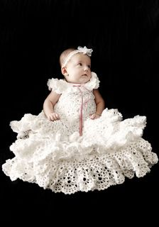 Irish Lace Christening Gown pattern by Annie Potter
