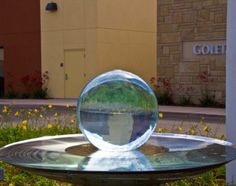 Allison Armour's now famous Aqualens Sphere Water Fountain is the perfect addition to your garden or outdoor space. View gardens with water features here. Sphere Water Feature, Outdoor Spaces, Outdoor Decor, Home Reno, Water Features, Fountain, Armour, Backyard Ideas, Garden Ideas