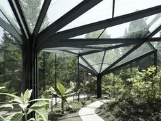 Greenhouse at Grüningen Botanical Garden by Buehrer Wuest Architekten