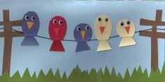 vogels op een elektriciteitskabel