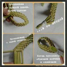 Post by Nadya Brovko Flax Weaving, Straw Weaving, Willow Weaving, Weaving Art, Weaving Patterns, Newspaper Basket, Newspaper Crafts, Paper Basket Weaving, Corn Dolly