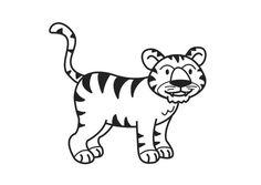 Kleurplaat tijger