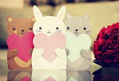 Tarjetas de Animalitos discovered by ♡jacy♡ on We Heart It Valentines Day For Boyfriend, Valentines Diy, Paper Cards, Diy Cards, Birthday Diy, Birthday Cards, Diy And Crafts, Crafts For Kids, Kawaii