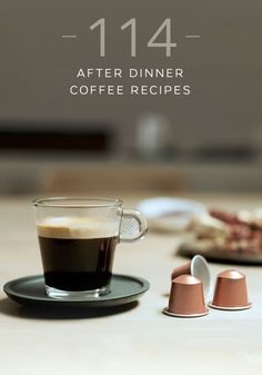 Treat yourself at the end of a long day with this collection of after dinner coffee recipes from Nespresso. Choose from flavor combinations like Apple Ginger Coffee and Strawberry Raspberry Smoothie Coffee Break. With this many gourmet coffee recipes to choose from, you'll have trouble picking just one.