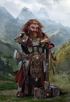 Dwarf warrior; World of Warcraft by uncannyknack on DeviantArt