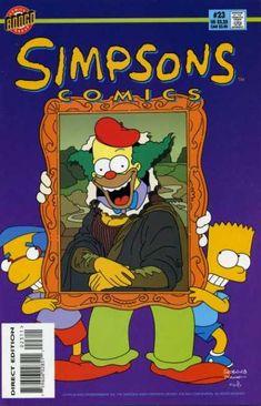 Simpsons Comics 23 - Krusty - Clown - Portrait - Bart - Painting - Bill Morrison, Matt Groening