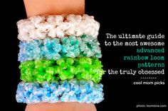 how to make most awesome advanced rainbow loom patterns