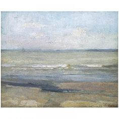 Grey Seascape - James Ensor, Royal Museum of Fine Arts Antwerp Watercolor Landscape, Landscape Art, Landscape Paintings, Art Textile, Seascape Paintings, Museum Of Fine Arts, Pictures To Paint, Painting Inspiration, New Art