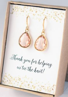 Bridesmaid Gift Jewelry Confettti Peach Coral Drop by LimonBijoux