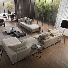 Living Room Modern, Living Room Sofa, Living Room Interior, Home Living Room, Home Interior Design, Living Room Decor, Interior Ideas, Interior Livingroom, Interior Modern