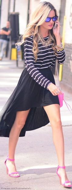 Love it all except the pink shoes   London Fashion Week Street Style