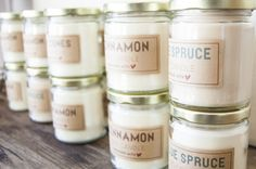 Bonnie Christine shares her personal tutorial to make soy wax candles, along with a free printable for labels.