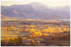 Overview by Kathryn Stats - Greenhouse Fine Art Western Landscape, Landscape Art, Landscape Paintings, Autumn Painting, Classic Paintings, Southwest Art, Mountain Paintings, Western Art, Art Oil