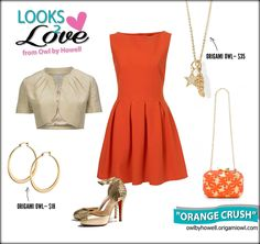"Who wouldn't have an ""orange crush"" on this adorable outfit?  Finishing touches are the Origami Owl Core necklace ($35) and snazzy ""Caroline"" hoop earrings ($18).    www.rpm.origamiowl.com or email me at rhondasellslockets@gmail.com. Also follow me on Facebook: http://fb.com/rhondasellslockets1"