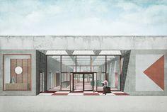 Jägnefält Milton, Bauhaus Museum – Competition, 2015 Entry for the Bauhaus Museum in Dessau. – – Source