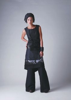 Dogstar Blackbird Top + Hansel Apron and Straight Cut Pants, from 2010 Summer collection