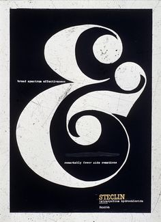 Steclin ad lettering by John Pistilli at Herb Lubalin's studio
