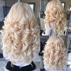 50 Chic and Elegant Wedding Hairstyles Ideas for Bridal 2019 Curls For Long Hair, Big Curls, Long Curly Hair, Curly Hair Styles, Wavy Curls, Short Curls, Natural Curls, Beautiful Long Hair, Gorgeous Hair