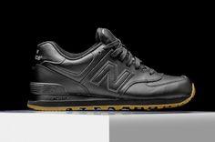 "New Balance 574 ""Black Leather Gum"""
