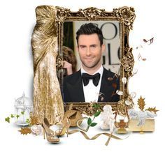 """""""Adam"""" by ember-violet ❤ liked on Polyvore featuring Adam Levine, Yves Saint Laurent, Michael Antonio, gold, music, formal, gown and beoriginal"""