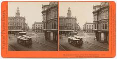 Title: Montgomery Street, from New Montgomery and Market Streets, San Francisco.              Creator: Watkins, Carleton E., 1829-1916     Date: ca. 1870  Place: California  Part Of: Collection of Carleton E. Watkins western stereoscopic views  Physical Description: 1 photographic print on stereo card: stereograph, albumen; 8.6 x 17.6 cm.   File: ag1982_0203_1772_mont_r_opt.jpg               Rights: Please cite DeGolyer Library, Southern Methodist University when using this file. A…