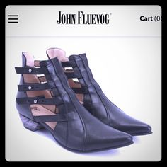 JOHN FLUEVOG Bekkie open strap lather booties 8 Uh-mazing buttery soft strappy…