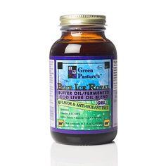 Green Pasture - Blue Ice Royal Gefermenteerde Levertraan & X-Factor High Vitamin Butter Oil - Gel - 240ml, Naturel (40 euro)