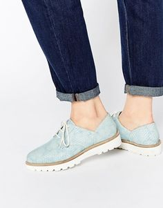 ASOS MATCHED UP Leather Flat Shoes