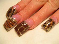 Safari nails by - Nail Art Gallery by Nails Magazine Long Nail Designs, Beautiful Nail Designs, Acrylic Nail Designs, Art Designs, Fabulous Nails, Gorgeous Nails, Pretty Nails, Amazing Nails, Perfect Nails