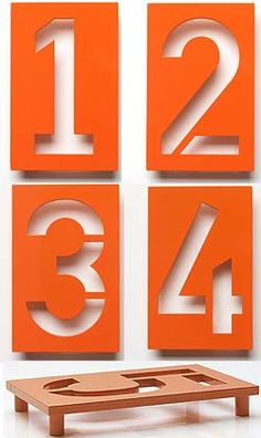 Industrial house number designed by Erik Spiekermann for Design Within Reach