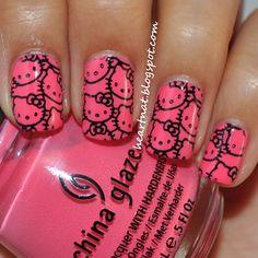 heartNat: Hello Kitty Nails