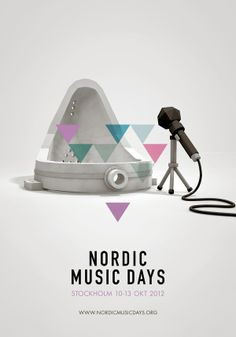 Nordik Music Days - Poster design - geometric - Scandinavian