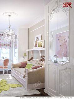 Зона для сна в интерьере детской