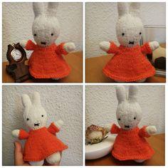 Miffy! – Bestrickendes Miffy, Crochet Hats, Teddy Bear, Knitting, Toys, Cute, Animals, Kawaii, Tutorials