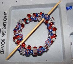 Beaded shawl pin tutorial