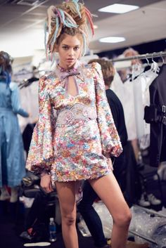 Backstage at Marc Jacobs SS17 Collection shot by Liz Collins for LOVE