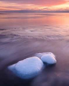 'Icy stones at sunset' by Mikael Svensson on artflakes.com as poster or art print $20.79