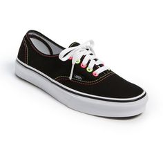 Vans 'Authentic Neon' Sneaker Womens Neon Black Size 9.5 M found on Polyvore
