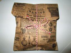 100 Kraft News Print Paper Bags 9 Tall x 6 by prettypapersprinkles, $13.25