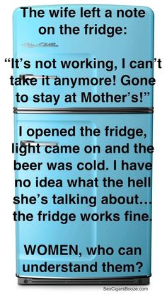The note on the fridge