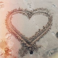 beach, cute, heart, love