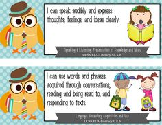"""Kindergarten Common Core Standards """"I CAN"""" format - OWL theme This purchase includes everything you need to post the ELA and MATH Common Core Standards in your classroom. Included in the purchase: * JPEG images for all 1st Grade ELA standards * JPEG images for all 1st Grade MATH standards * BLANK standard cards - to create your own Social Studies and Science * BLANK header cards - to create subject headers as needed"""