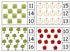 Apple Themed Clip & Count numbers 1-20 by The Teaching Zoo