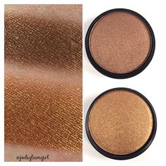 @citycolorcosmetics single eye shadows - colors (top) Goal Digger and (bottom) Golden Nights. This is a single swipe with no primer and they did not come off easily either which I need so they don't end up in my eye crease. On sale now and use code Jodi106 (affiliate) for an additional 10% off. Link in bio. #swatch #swatches #eyeshadow #shadow #swatchsunday #beauty #makeup #discount #makeup #bblogger #cosmetics #citycolorcosmetics