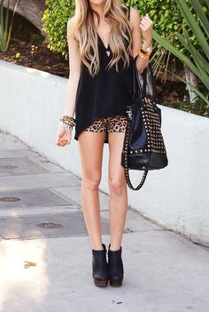 Leopard and black studs